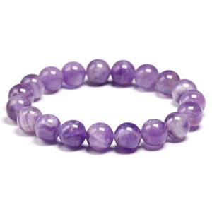 Natural Dream Amethysts Quartz Energy Light Purple GemStone Bracelet Women Beaded Stretch Bracelet Energy Gift Jewelry(China)