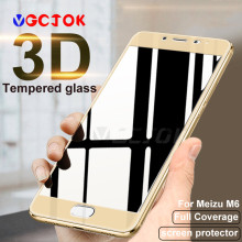 3D Full Cover Tempered Glass For Meizu M5 M6 Note Pro 7 Plus Pro 6 6S Screen Protector Film For Meizu M6 M5 M5C M5S MX6 Glass