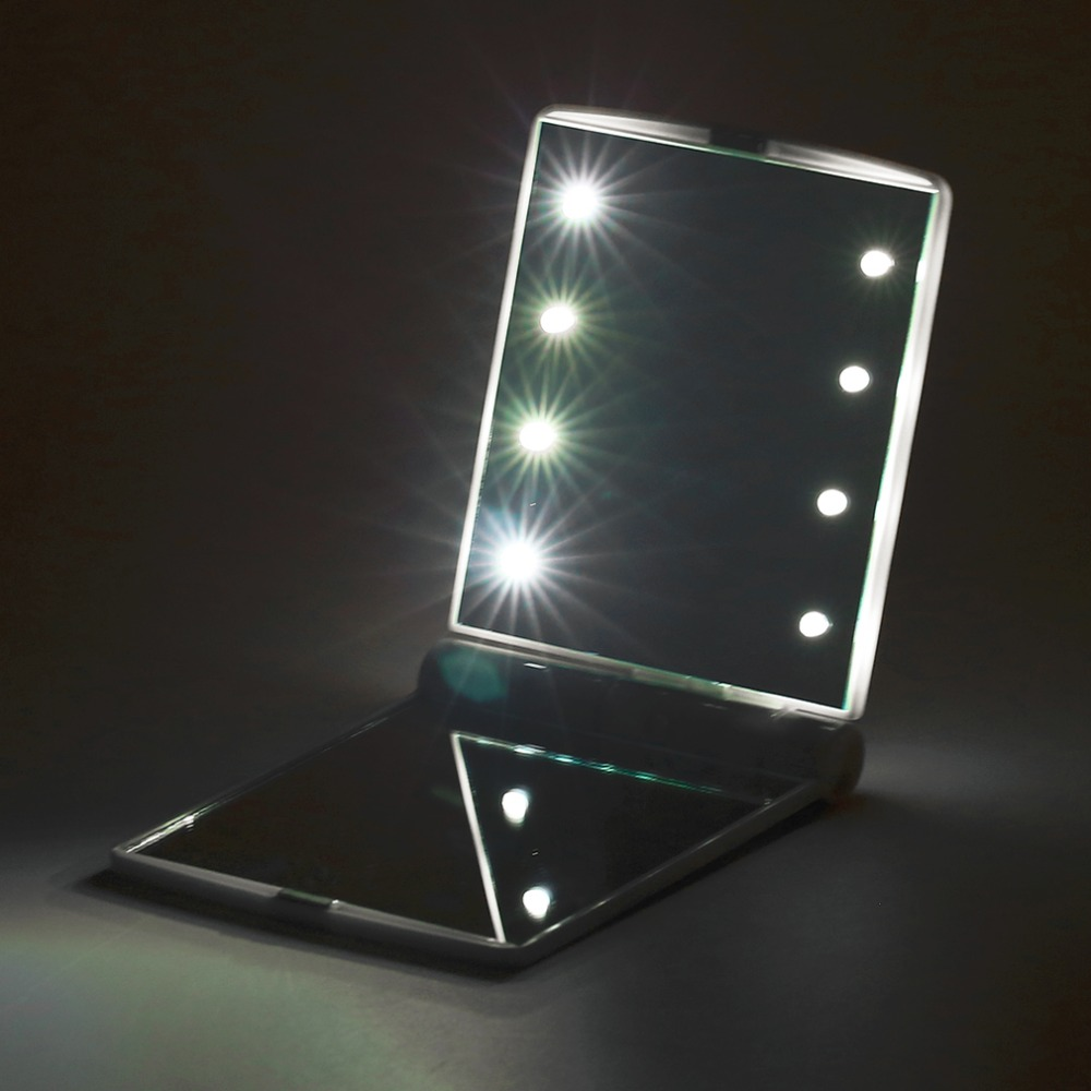 Portable 8 Led Makeup Mirror Lights Low Power Comsumption