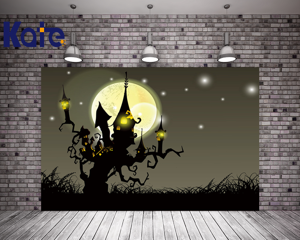Thick Cloth Backdrops For Photography Night Moon Halloween Backgrounds For Photo Studio Kate Background Backdrop allenjoy background for photo studio full moon spider black cat pumpkin halloween backdrop newborn original design fantasy props