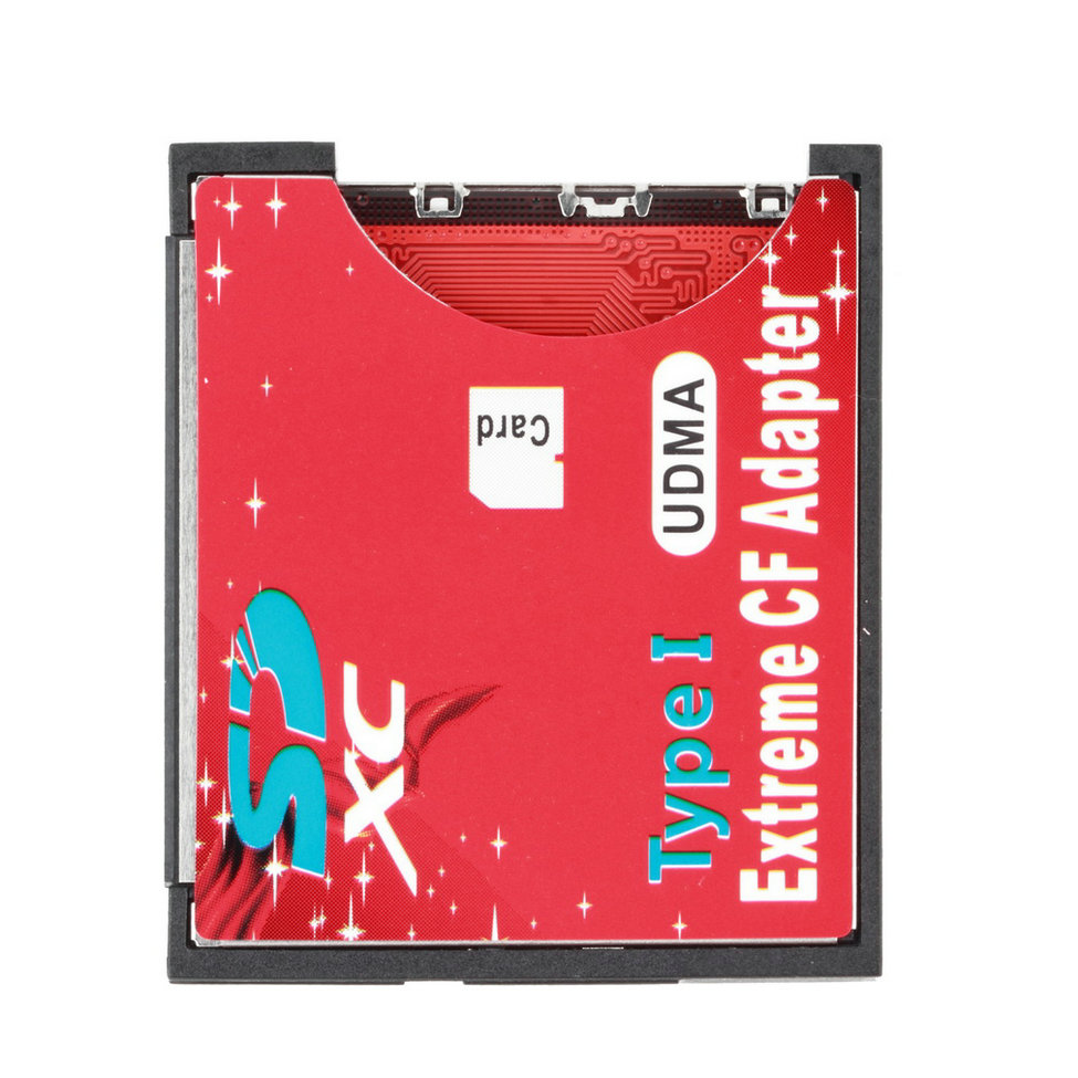 100% High Quality Micro TF To Compact Flash CF Type I Memory Card Reader Writer Adapter Wholesale Drop Shipping
