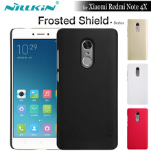 NILKIN for Xiaomi Redmi Note 4X Case Nillkin Frosted Shield Hard Plastic Back Cover for Xiaomi Redmi Note 4X + Screen Protector