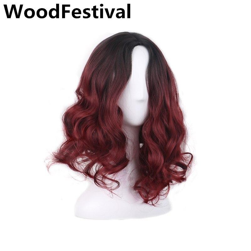 WoodFestival короткий парик вьющиеся ломбер бордовый парик короткие парики для женщин синтетические парики термостойкие