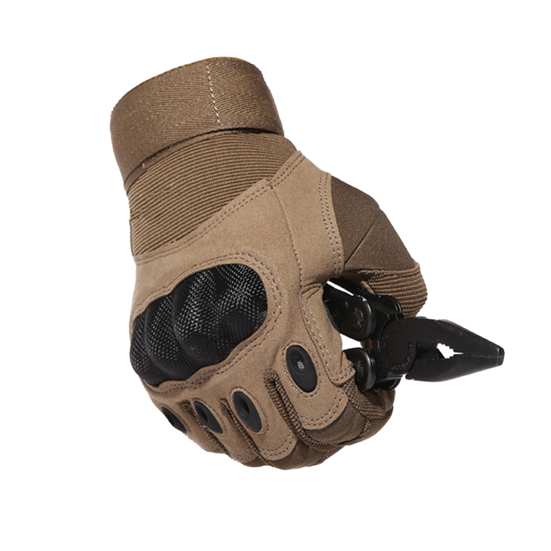 Sportswear Tactical Army Airsoft Paintball Shooting Gloves Full Finger Military Men's Gloves Armor Protection Shell Gloves