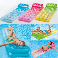 Inflatable Floating Row 18 Holes With Pillow Lounger Swimming Borad Air Mattress Summer Fun Island Safety Pool Float