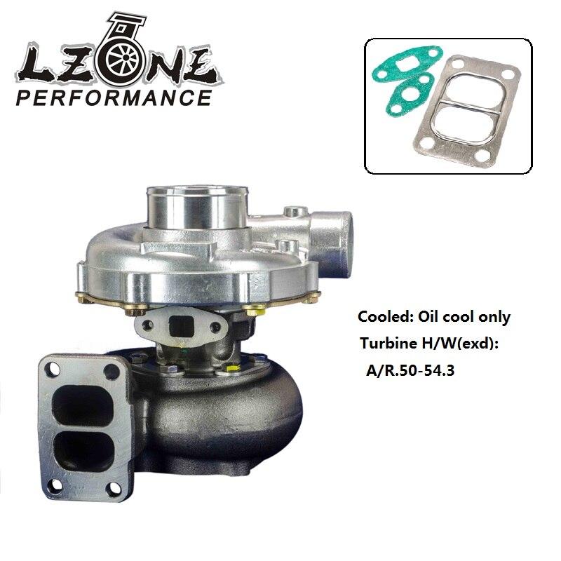 Jr-turbo38 Brilliant Lzone Universal Turbo T3/t4 T3 Kkk Turbocharger 4 Bolt Compressor .50a/r 350hp