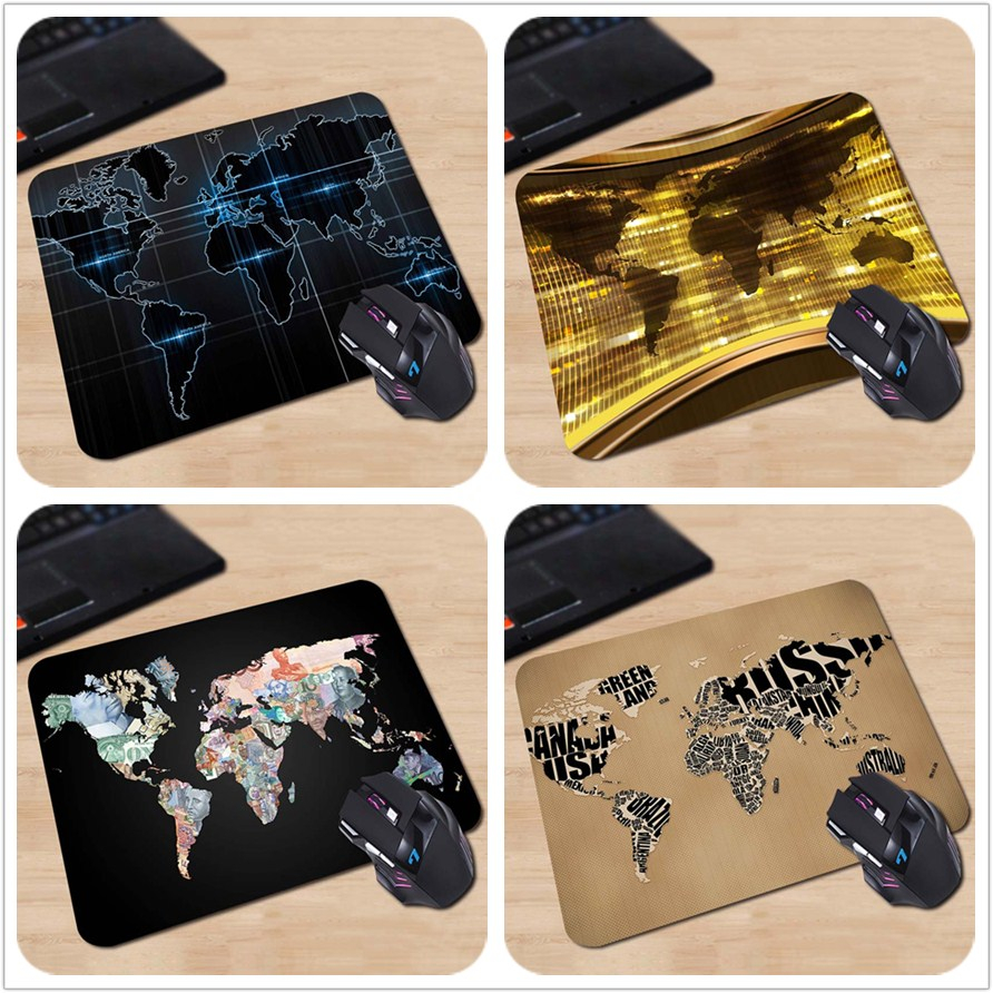 New High quality Pattern Durable Gaming Optical Computer Mouse Mat Cool Map Keyboard Comfortable Rubber Gaming Rest Mouse Pad