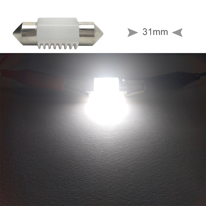 CNSUNNYLIGHT High Quality C5W C10W LED 31mm 36mm 39mm 41mm CANBUS Car Festoon Light Auto Interior Dome Lamp Reading Bulb White 12V 24V (13)