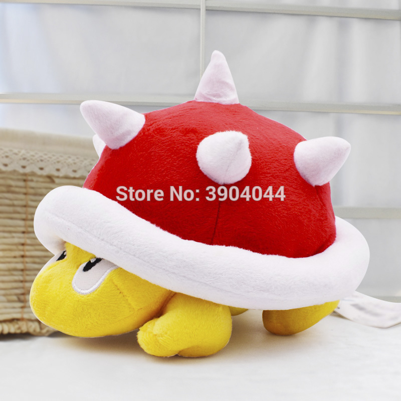 17cm Super Mario Spiny Koopa Super Mario Plush Soft Toy Red Shell Plush Toys For Children Gift For Kids' Christmas Free Shipping