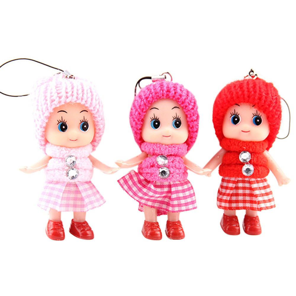 5pcs Kids Toys Soft Interactive Baby Dolls Toy Mini Doll