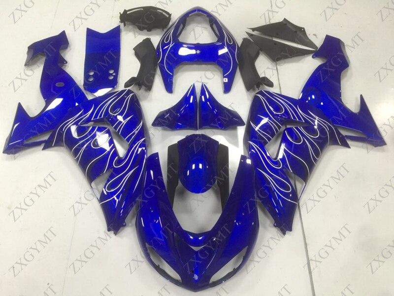 Plastic Fairings Ninja ZX 10r 2006 - 2007 Blue White Frame Abs Fairing ZX-10r 2006 Fairings for Kawasaki ZX10r 06Plastic Fairings Ninja ZX 10r 2006 - 2007 Blue White Frame Abs Fairing ZX-10r 2006 Fairings for Kawasaki ZX10r 06