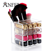 Acrylic Cosmetic Organizer Lipstick Holder Display Stand Clear Makeup Case Makeup Organizer Storage Container C160