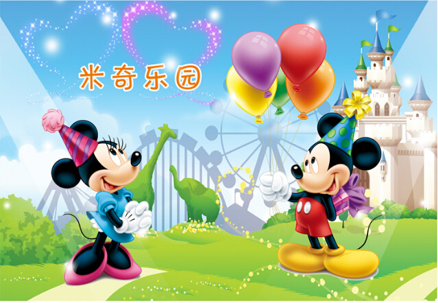 Cartoon wall stickers stickers children room wallpaper Disneyland Mickey Mickey Mouse Wallpapers Free Shipping