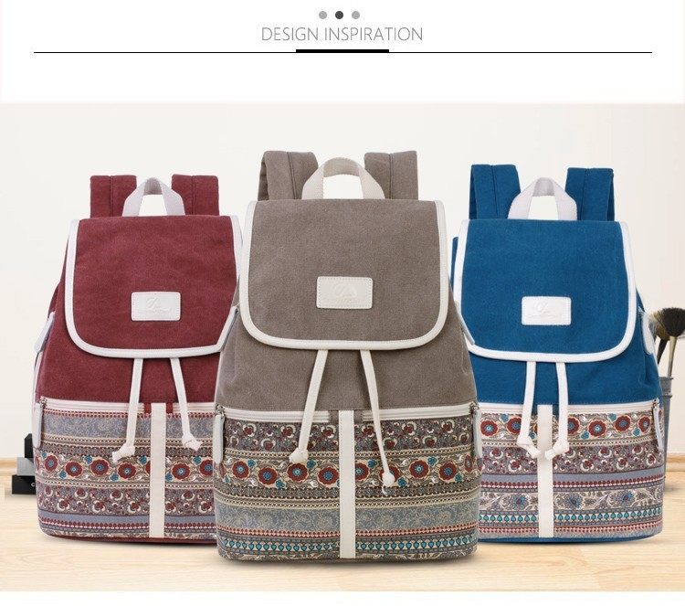 HTB1alw0hbsTMeJjSsziq6AdwXXaU Canvasartisan Top Quality Canvas Women Backpack Casual College Bookbag Female Retro Stylish Daily Travel Laptop Backpacks Bag