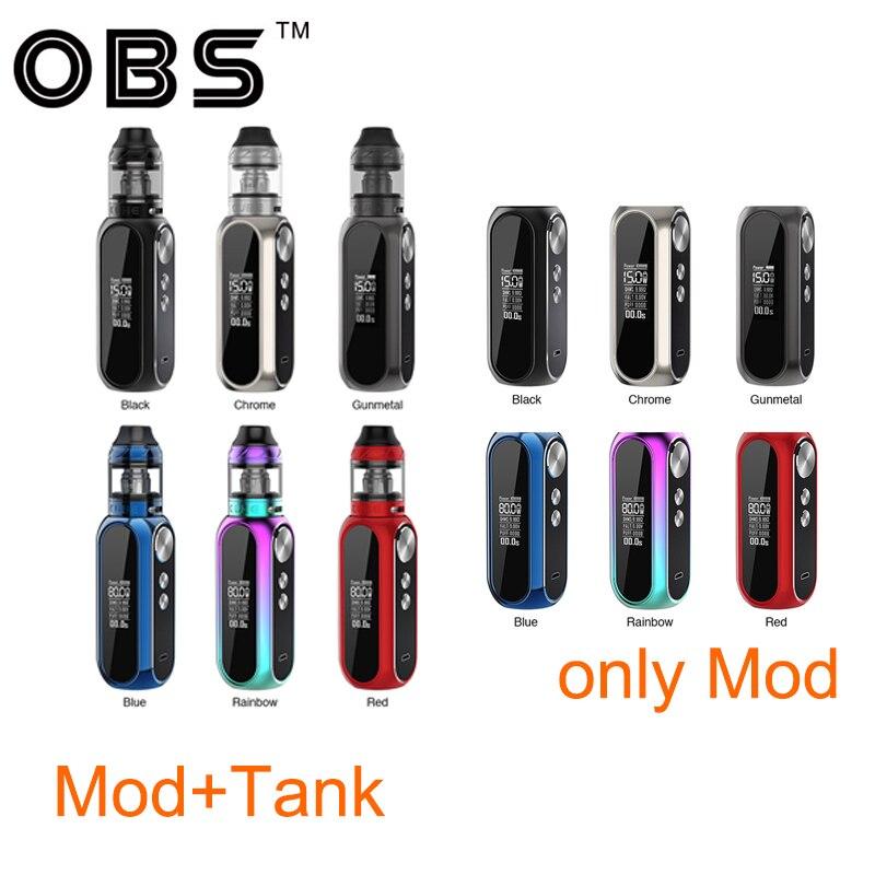 Original 80 W OBS Cube VW boîte MOD batterie 3000 mAh vs OBS Cube VW Vape Kit avec 4 ml maille réservoir atomiseur Vape boîte Mod Vs glisser 2