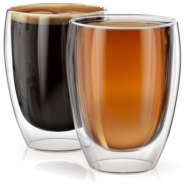 Double Wall Glass Cups Set