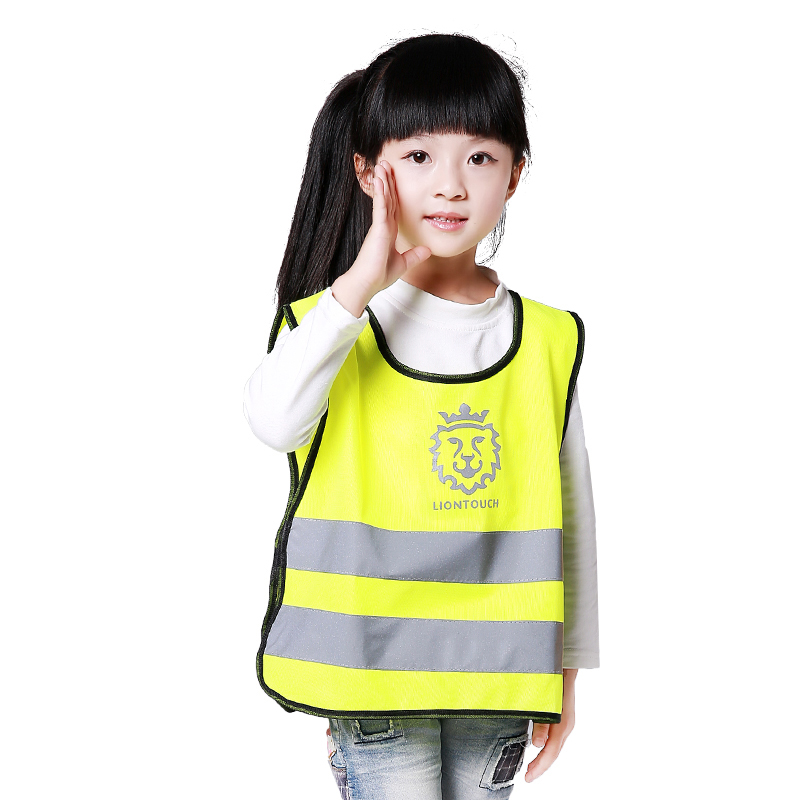 Children Reflective Vest Primary Traffic Safety Yellow&Orange&Blue One Size V82912 шнурки primary one 160cm air force1