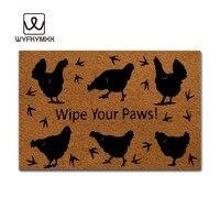 Funny Front Door Entrance Mats Wipe You Paws Non slip Doormat 23.6 x 15.7 welcome mat indoor outdoor entrance doormats