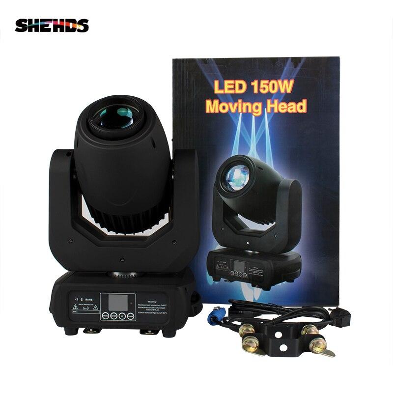 150W LED Spot Moving Head Light DMX512 Beam Lyre Professional DJ Disco Light Party Light Gobo Light Wedding Bar Stage SHEHDS