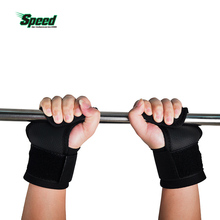 2017 Hot Selling Adjustable Fitness Wrist Support Weight Lifting Hooks Sport Training Gym Grips Straps Support Gloves