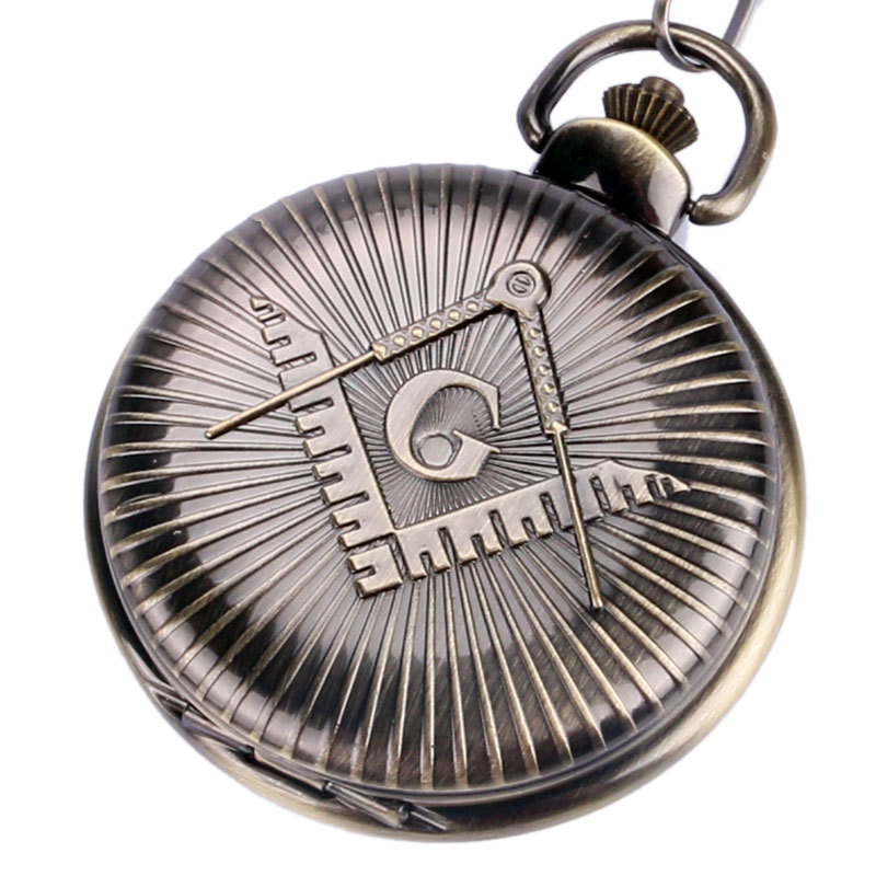 Masonic Freemason Quartz Necklace Pendant Steampunk Pocket Watch Jewelry Gifts Relogio De Bolso Watches Men