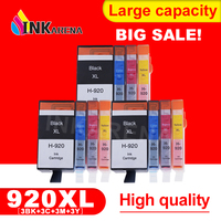 INKARENA 12Pcs 920 Compatible For HP 920XL Ink Cartridge for HP OfficeJet 6000 6500 7000 Printer For HP920 BK C M Y full of ink