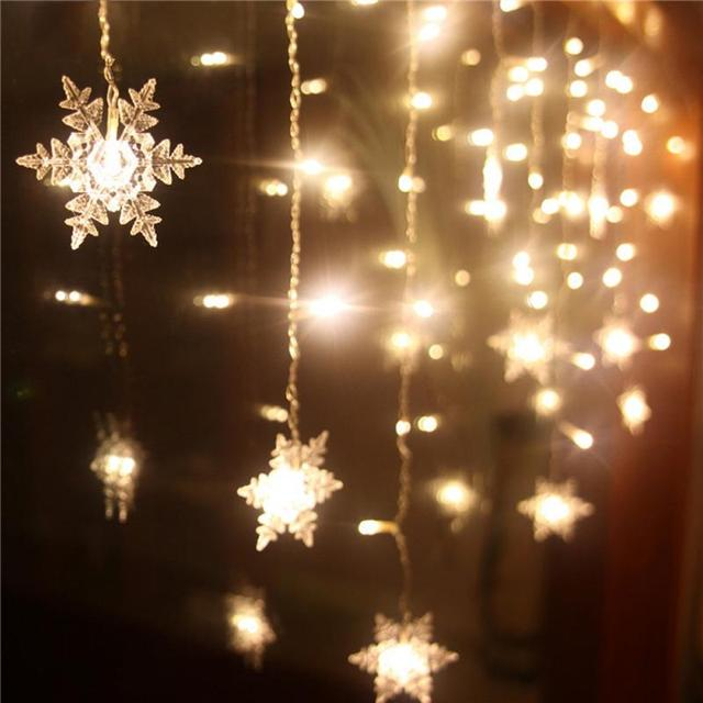 16 pcs Snowflake Curtain Light for Christmas Decorations for Home ...