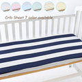 7 Color 3 size available Knit  Cotton Jersey Fitted Sheet Nursery Baby Crib / Basket/ Mattress Cover