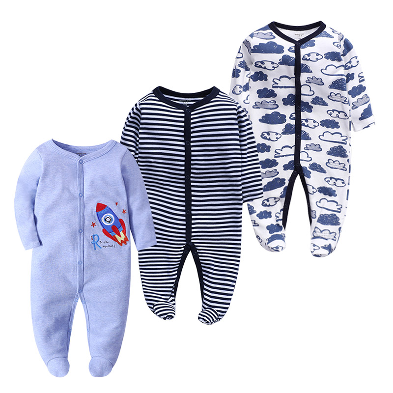 Jumpsuits Pajamas Rompers Baby-Girl Newborn-Baby Infant Autumn Long-Sleeves Boy Spring
