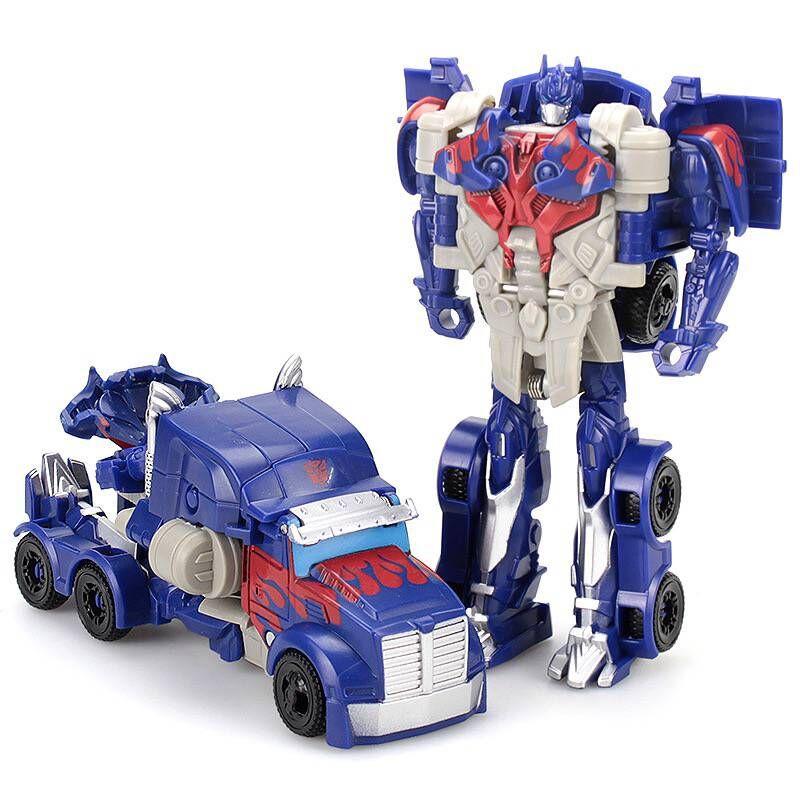 Baby Toy Cars Children Model Mini Car Inertia Toy Vehicles Transformation Robot Figure Roll Anti-Slip