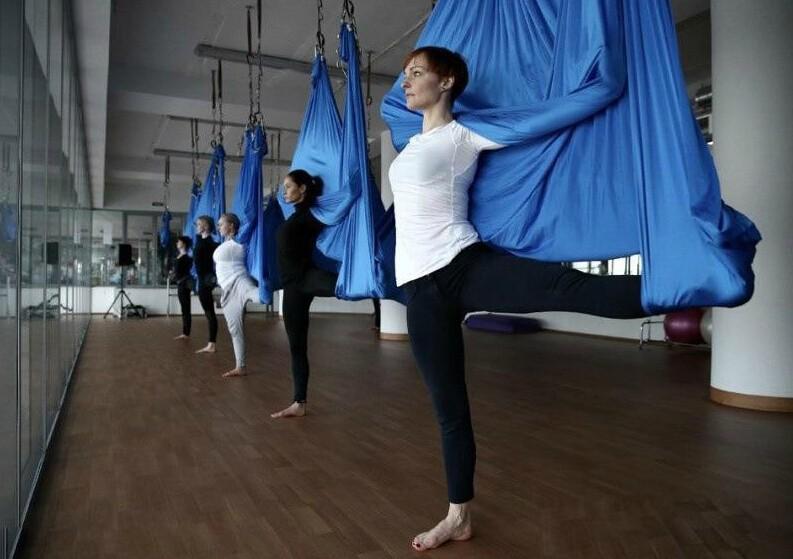 yoga hammock swing yoga belts yoga swing stretching strap(17)