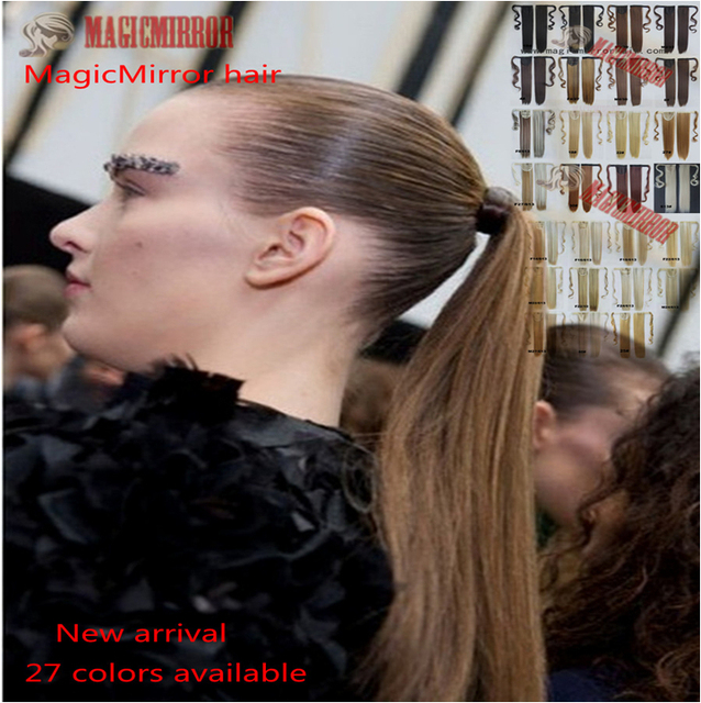 22 Fastener Tape Ponytail Wrap Around Ribbon Ponytail Synthetic
