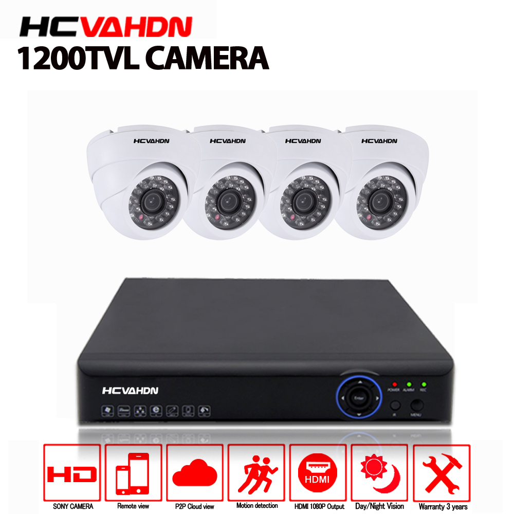 4CH 1080P HDMI DVR 1200TVL 720P HD Dome Indoor Security Camera System 4 Channel CCTV DVR Kit night vision Camera Set 1TB HDD4CH 1080P HDMI DVR 1200TVL 720P HD Dome Indoor Security Camera System 4 Channel CCTV DVR Kit night vision Camera Set 1TB HDD
