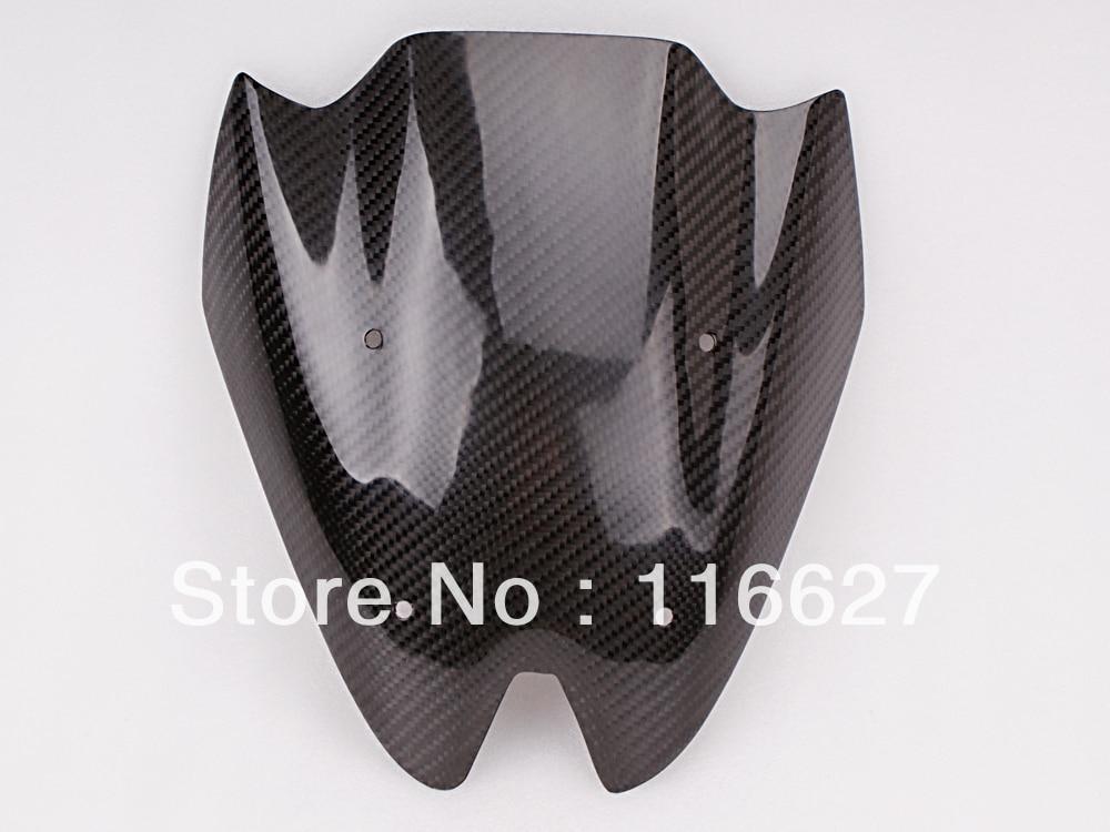 Бесплатная доставка двойной пузырь углеродного волокна лобовое стекло для Кавасаки z1000 2011 2012