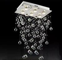 Led Chandelier Luxury Modern K9 Crystal Bulb Included 6 Lights GU10 For Foyer Living Room Bulb