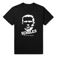 Men S O Neck Short Funny T Shirt England Jersey Paul Scholes Footballer Jerseys In United