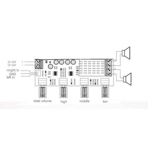 Image 2 - Dual channel stereo Digital Audio TPA3116D2 80W*2 Treble Bass Regulating Preset Preamplifier Board Amplificador B4 003