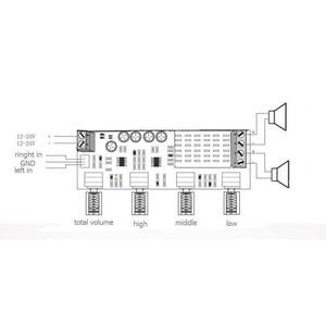 Image 2 - デュアルチャンネルステレオデジタルオーディオTPA3116D2 80ワット * 2高音低音調整プリセットプリアンプボードamplificador B4 003