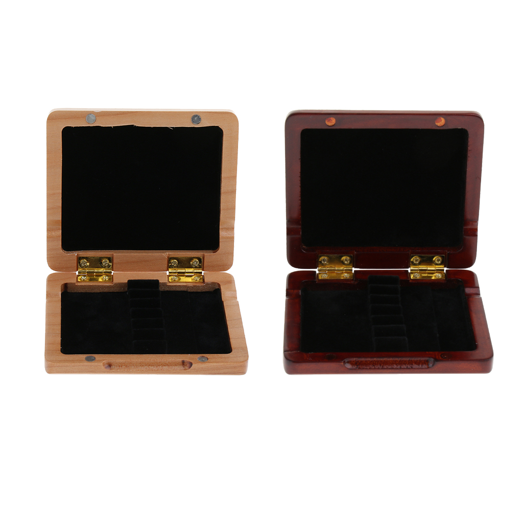 Wooden Oboe Reed Box Red and Wood 6pcs Oboe Reed Case Oboe Reed Woodwind Accessory