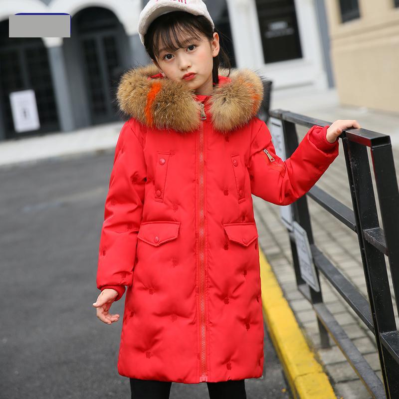 cf0635220e56 aliexpress.com - 2018 White Duck Down Jackets Girls Winter Coat Fur ...