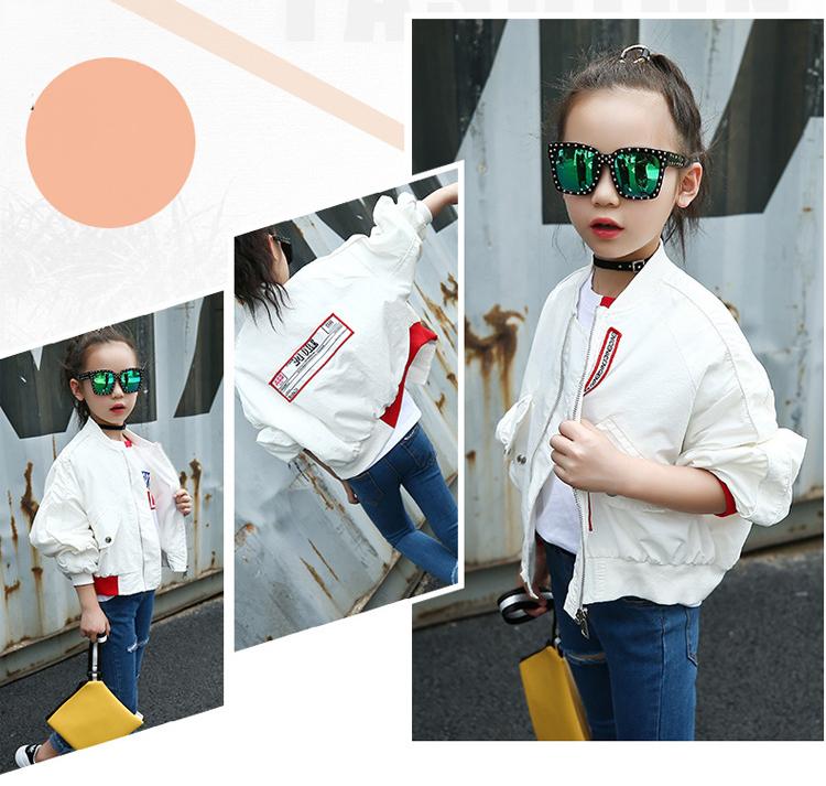 HTB1alxmaGigSKJjSsppq6ybnpXal - Weixu Children Spring Autumn Coat for Girls Fashion Kids White Bat Sleeves Oversize Biker Jacket Girls School Wear Bomber Jacket