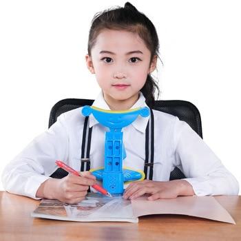 Корректор осанки для детей при чтении и записи, регулируемый антимиопия сидя поддержка скоба, синий розовый зеленый доступны