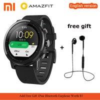 Оригинальная английская версия Xiaomi Huami Amazfit 2 Amazfit Stratos темп 2 Смарт часы с gps 5ATM Водонепроницаемый спортивные Smartwatch