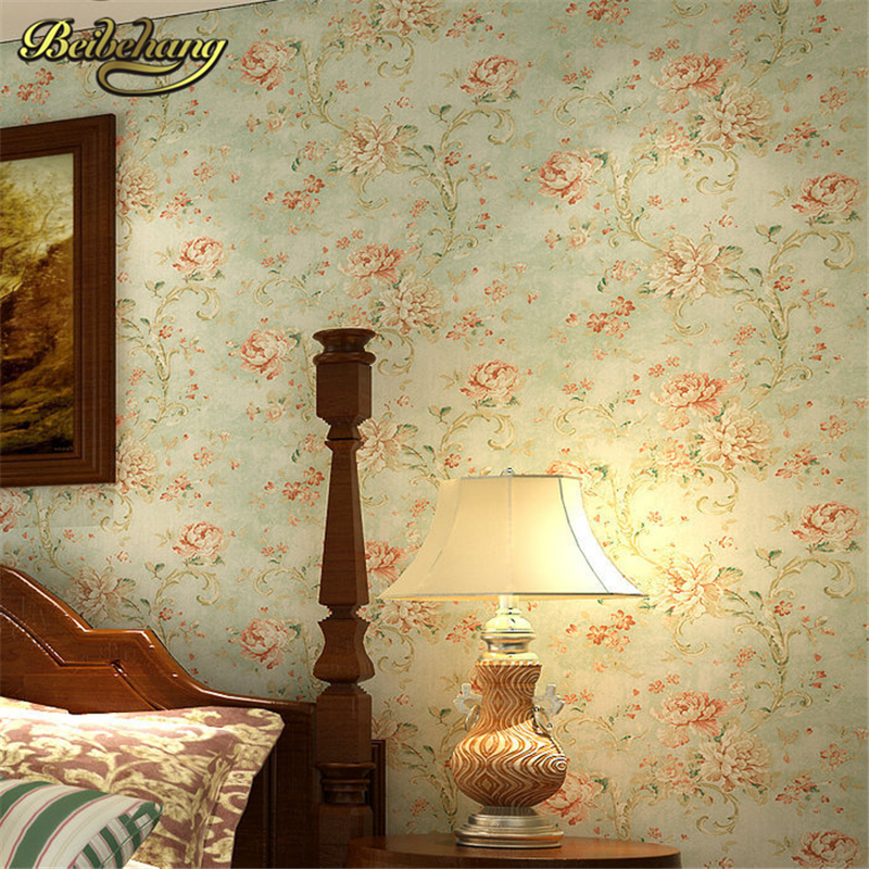 beibehang wall paper floral wallpaper roll pvc wall covering classic flower wallpaper for living room bedroom Home Decoration beibehang flower wallpaper roll non woven wall paper 3d paper contact for living room birds wall paper roll home decoration