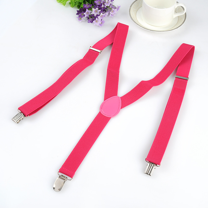 New arrivel suspenders women men Braces Y-shaped Colorful 2.5 cm width Casual suspender free shipping