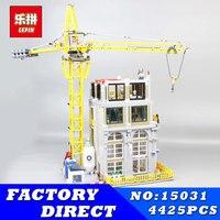 Лепин 15031 4425 шт. натуральная MOC серии строительство с кран строительные блоки кирпичи модель игрушки для детей Рождественский подарок