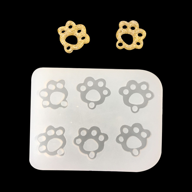 Mirror creative silicone mold cat claw footprint for jewelry pendant Resin Silicone Mould handmade epoxy resin molds