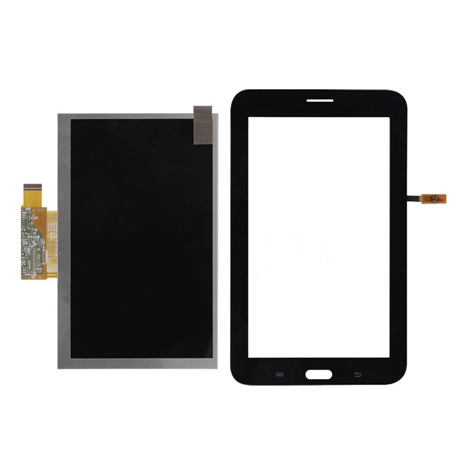 black Touch Screen Digitizer Glass Sensor + LCD Display Panel Screen For Samsung Galaxy Tab 3 Lite 7.0 T111 3G Free Shipping for samsung galaxy tab 4 10 1 sm t530 t531 t535 t530 touch screen digitizer lcd glass front panel 1 piece free shipping