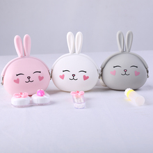 Colorful Rabbit Contact Lens Case Cute Box Fashion Animal for Lenses Travel Container