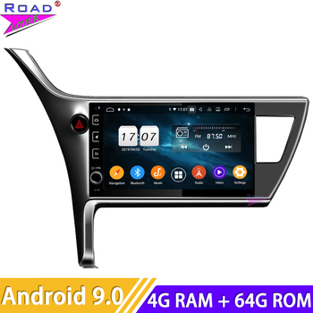 Android 9.0 Multimedia Player For Toyota Corolla Innova Crysta 2016-2018 (Left drive) Stereo 2 Din GPS Navigation Car Head Unit